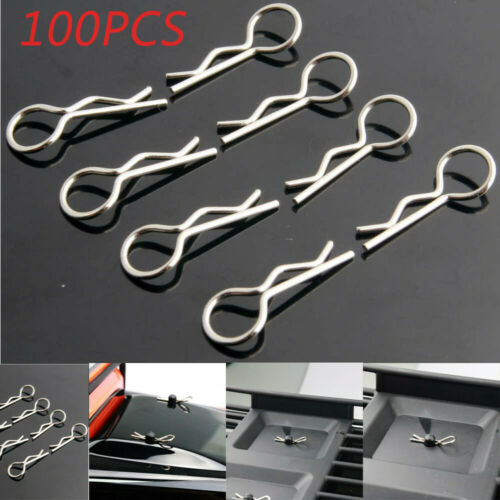 100Pcs Apex RC Products Medium RC Car//Truck//Buggy Galvanized Steel Body Clips