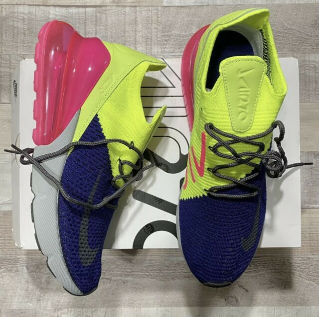 Nike Air Max 270 Flyknit Size 12 Blue