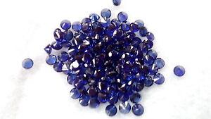 dunkelblau 2,0mm Zirkonia Brillantschliff synthetische Edelstein 10 CZ Tansanit