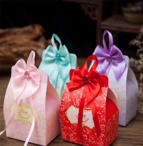 Hot 50pcs Luxury Wedding Favour Favor Sweet Cake Gift Candy Boxes