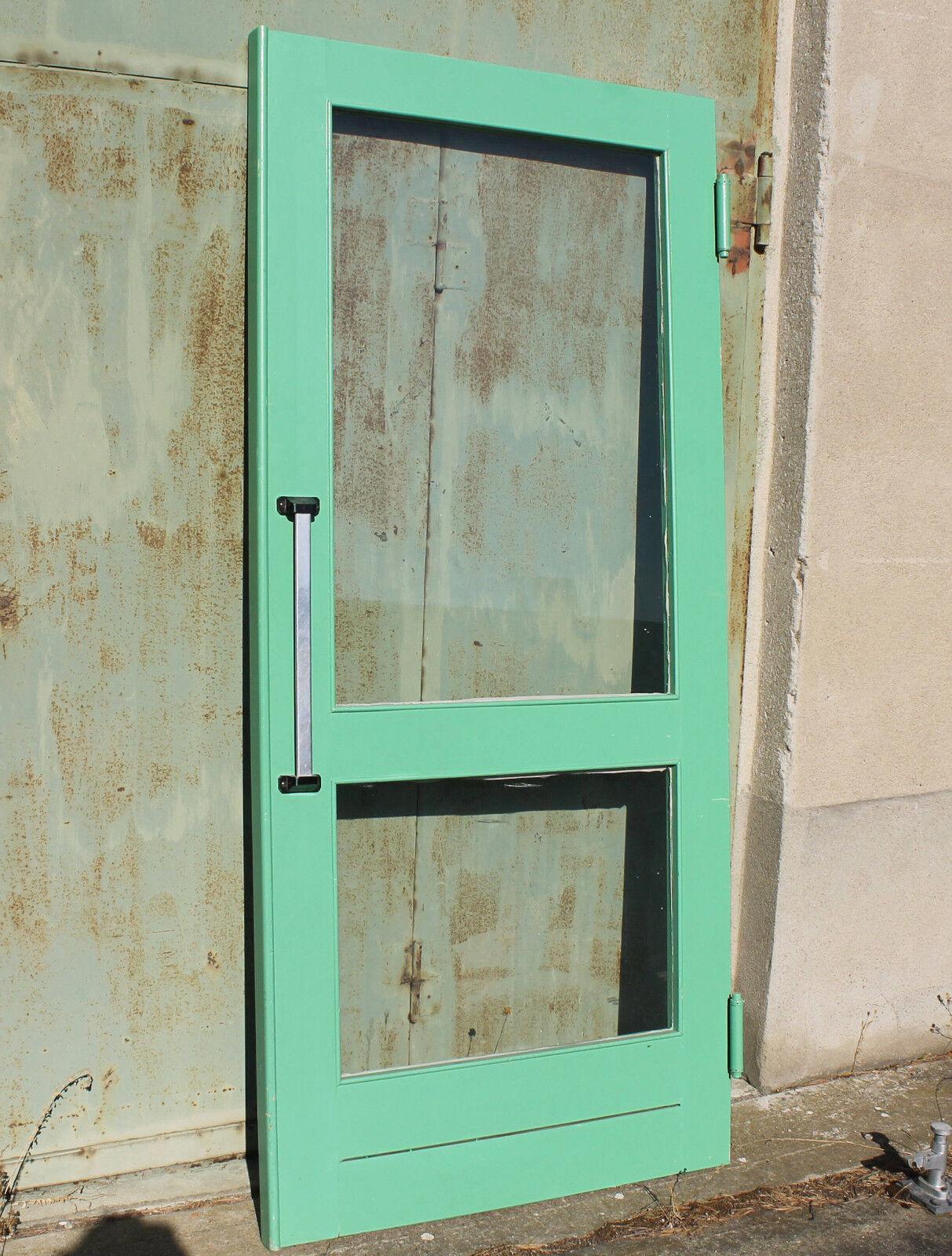 Schwingtür Pendeltür Schwenktür Durchgangstür Küchentür Tür Grün 222x101x3,8