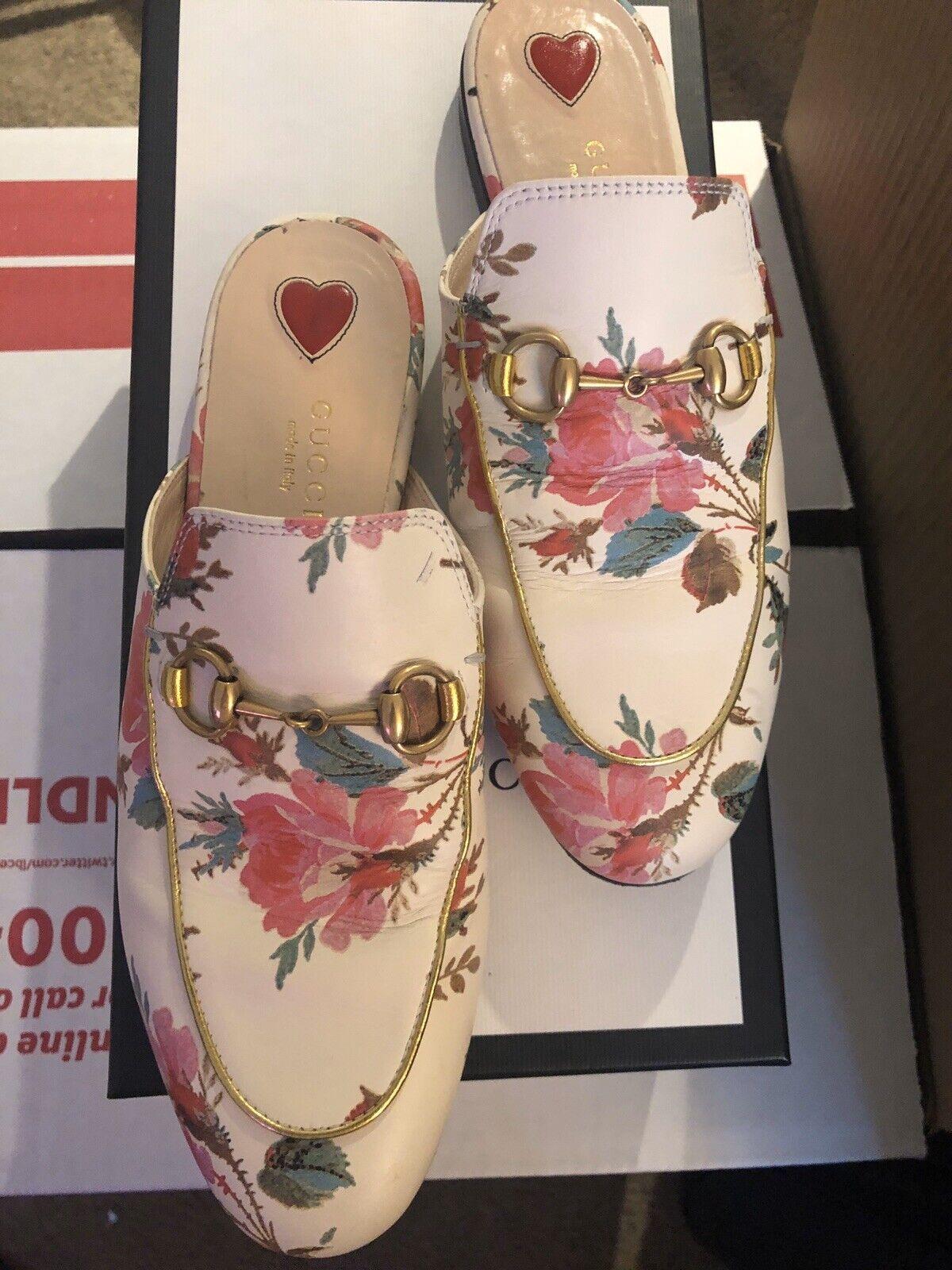 Rare Gucci Women Princetown Rose Floral Loafer Mu… - image 4