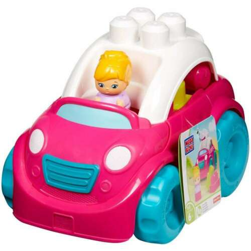 New Mega Bloks Pink /& Teal Convertible First Builders Car