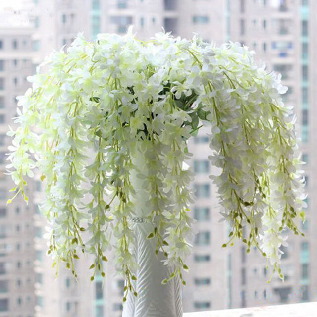 1Pc Artificial Wisteria Silk Flower Home Party Wedding Garden Floral Decoration