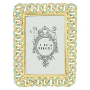Olivia Riegel Frames 4x6 Gold Chandler Frame W Swarovski Crystals