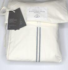 Restoration Hardware Italian Hotel Satin Stitch Ivory Sheet Set King Stone $309