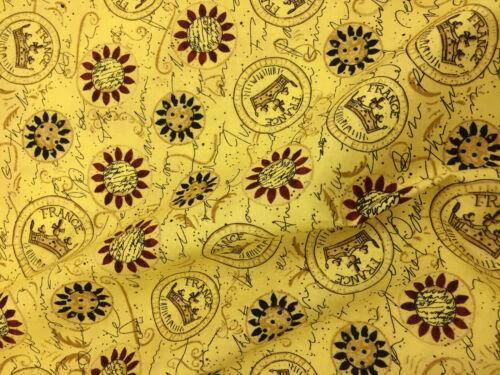 Gold Crowns Regal Printed 100/% Cotton Poplin Fabric.