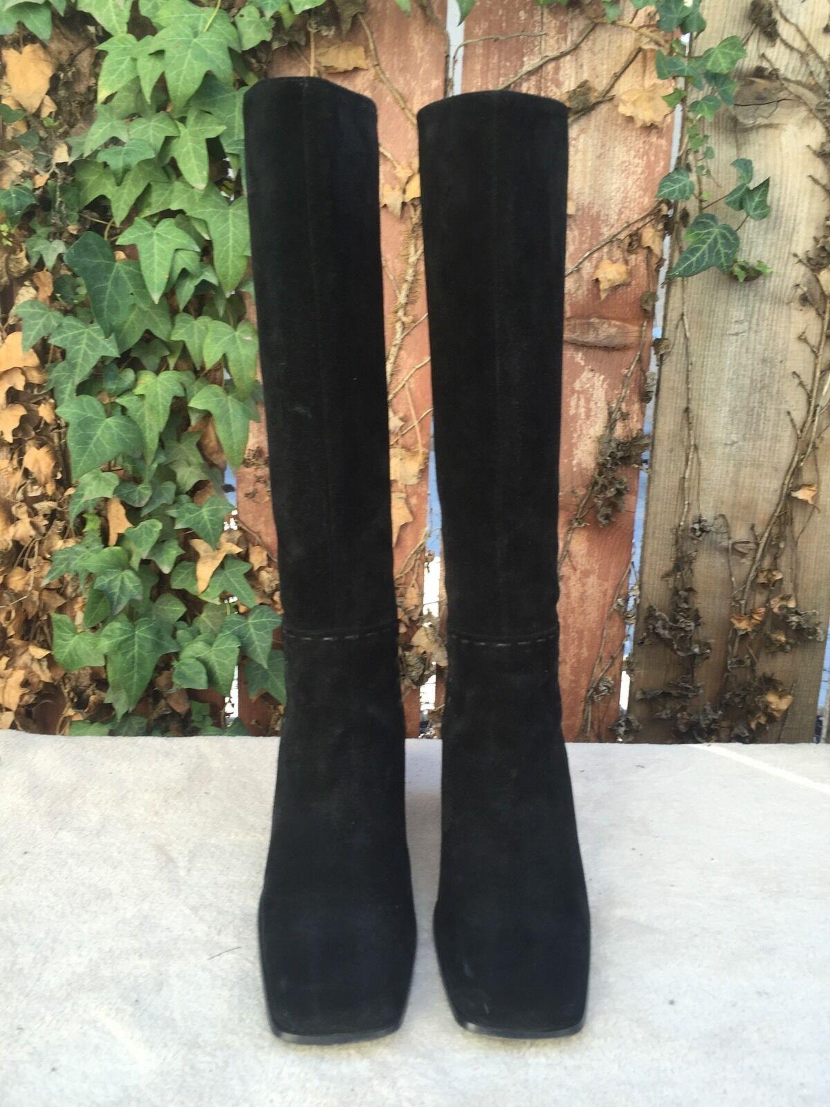 Barneys New York Co op de de de cuero negro la Rodilla botas Altas EU Talla 36.5 EE. UU. 6.5  se descuenta