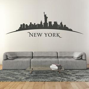 Wandtattoo-New-York-Stadt-Skyline-Silhouette-Aufkleber-Wall-Wand-Tattoo-2079