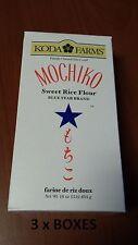 PREMIUM KODA FARMS MOCHIKO SWEET RICE FLOUR 16oz x 3  BOXES FREE SHIPPING NEW3lb