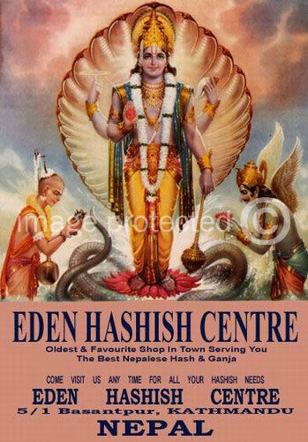 Eden Hashish Vintage Pulp Novel Cover Art Retro Poster