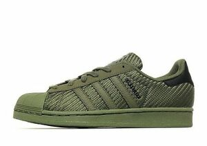 Image is loading Adidas-Superstar-Weave-Khaki -Olive-Green-UNISEXThe-legendar-