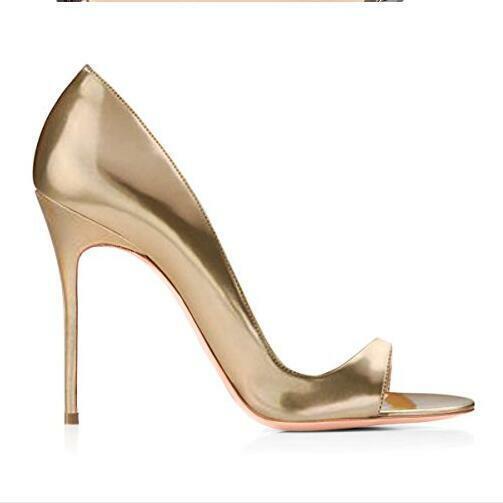 Gold Pumps Sandalen Sommer Stiletto Schwarz Fashion Damenschuhe Fashion Gr.35-47  | Spielen Sie Leidenschaft, spielen Sie die Ernte, spielen Sie die Welt