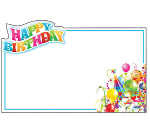 50ct happy birthday party hat blank florist enclosure cards small