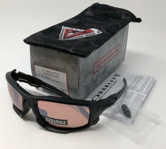 Oakley SI Ballistic Shocktube Matte Black TR45 Titanium Iridium Lenses  OO9329-03 8d16afcbfd