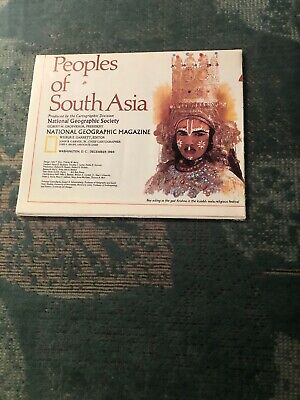 Vintage 1984 National Geographic Map People of South Asia a