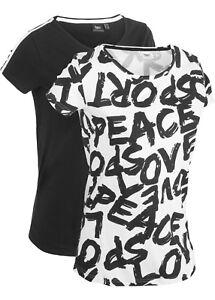 Damen-Shirt-Doppelpack-schwarz-weiss-in-100-Baumwolle-Groesse-32-bis-54-neu-24126