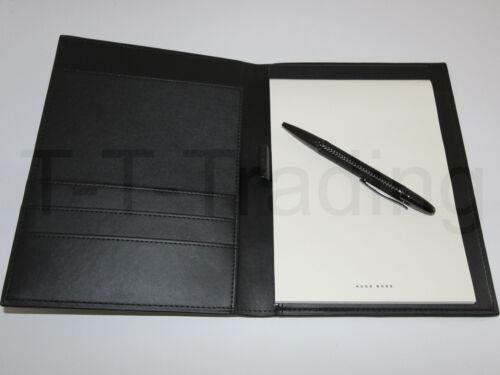 Kugelschreiber NEU -48/% HUGO BOSS Edles Büroset Fuse Leder-Schreibmappe A5