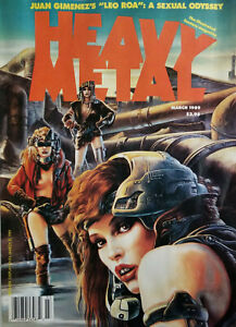 Heavy Metal Fantasy Magazine March 1989 Juan Gimenez Leo Roa Sexual Odyssey VG
