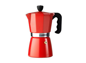 La Cafetiere 6 taza de café espresso cafetera cafetera de filtro clásico-Rojo  </span>