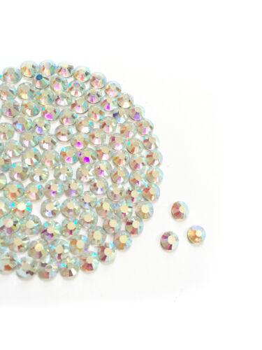 Crystal AB HotFix Diamantes GLASS Rhinestone DMC Quality Flat Back Glue Iron On