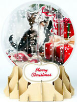 Holiday Cat Snowglobe - Up With Paper Pop-up Christmas Card By Up With Paper