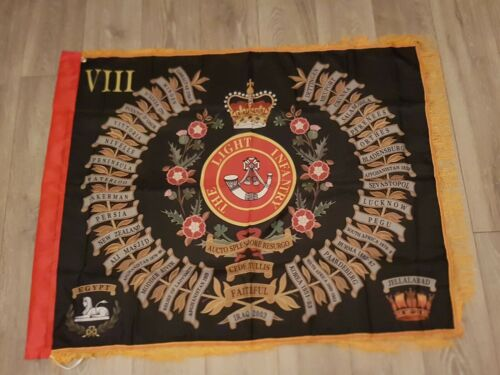 The Light Infantry 8th battalion Regimental colours flag
