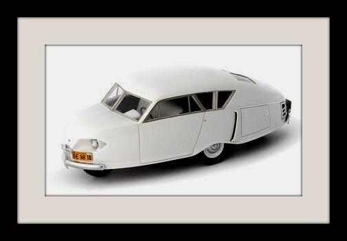 Wonderful resin-modelcar GORDON DIAMOND 1949  USA  - bianca - 1/43 - ltd.ed.333