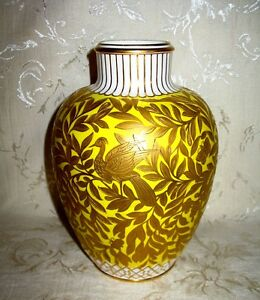 Antique Royal Crown Derby Vase 9 In