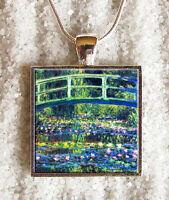 Pendentif Collier Claude Monet Le Pont Nympheas Pendaglio Ciondolo Collar Bijoux