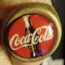 VINTAGE COKE BOTTLE COCA COLA GUMBALL MACHINE RING 60's brass soda advertising