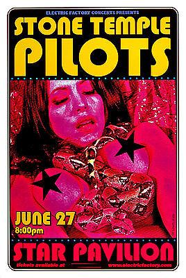 Stone Temple Pilots Scott Weiland 2000 Original Concert Promo Poster