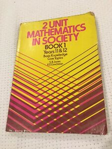 2 UNIT MATHEMATICS IN SOCIETY BOOK 1 YEARS 11 &12 TEXTBOOK