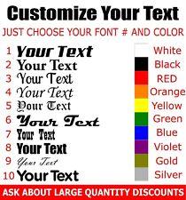 Your Text Vinyl Decal Sticker For Car WindowBumper EBay - Custom vinyl decal text
