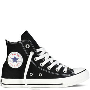 Converse-All-Star-scarpe-uomo-donna-alte-Chuck-Taylor-black-tela-canvas