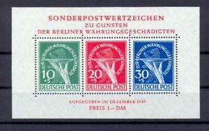 Berlin-Block-1-II-Waehrungsgeschaedigte-postfrisch-geprueft-HD-Schlegel-es43