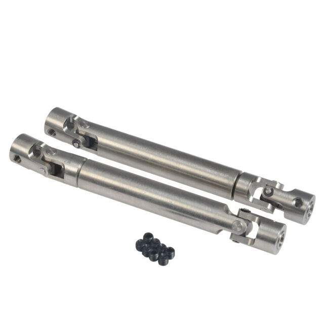 2Pcs Stainless Steel Universal Drive Shaft for 1//10 RC AXIAL SCX10 D90 TRX4