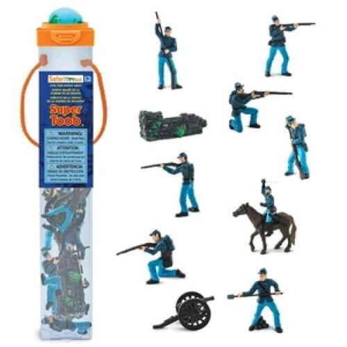 Safari Ltd 100715 Amerikanische Armee 11 Minifiguren Tubos-Röhren Neuheit 2020