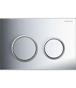 geberit omega 20 dual flush plate for omega cisterns matt chrome matt 4025416310723 ebay. Black Bedroom Furniture Sets. Home Design Ideas