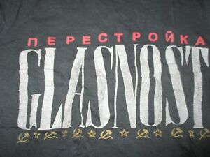 Vintage NEPECTPONKA - GLASNOST Soviet USSR (SM) T-Shirt RUSSIA