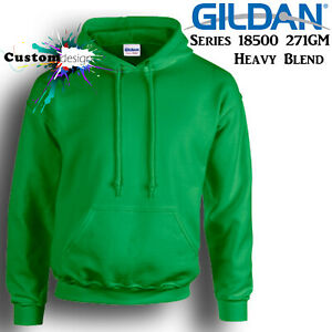 Gildan-Irish-Green-Hoodie-Heavy-Blend-Basic-Hooded-Sweat-Mens-Pullover