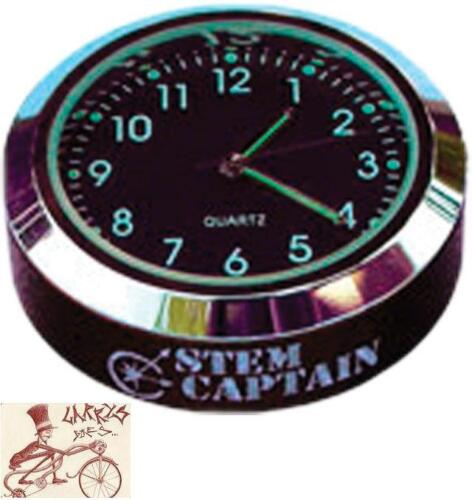 """STEMCAPTAIN CLOCK 1-1//8/"""" TOP CAP FOR MTB-BMX-ROAD BICYCLE HEADSETS"""