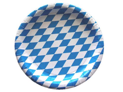 66187-B Pappteller Imbißteller Hendlteller 23 cm Raute blau weiß beschichtet