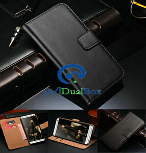 New-Card-Holder-Wallet-Genuine-leather-Whole-Cover-Case-For-Samsung-Galaxy