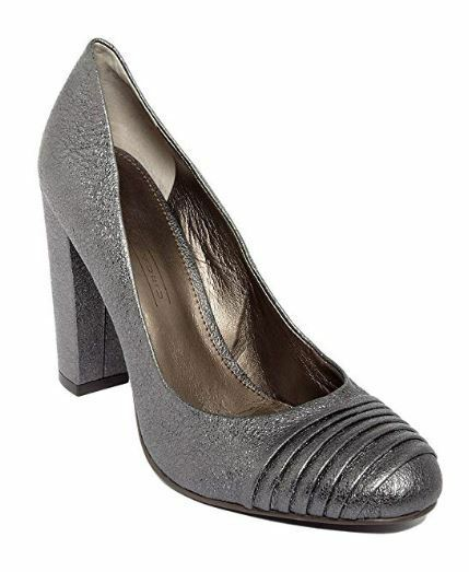Circa Joan & & & David Women's Garren Classic Metallic Leather Pumps Pewter 6.5 M 57961e