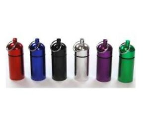 5-Storage-Container-Keychain-Pill-Holder-Bottle-Geocaching-Tube-Water-Resistant