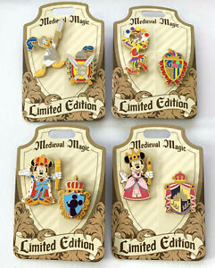 Disney-Collector-Pin-Medieval-Magic-LE-1000-Disneyland-Sets-of-2-Pins-You-Choose