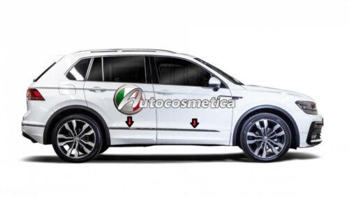 Profili Cornici Portiere Acciaio Cromo Cromate VW TIGUAN 2016/> nuovo modello