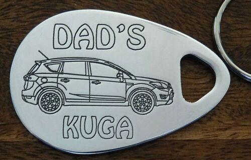 DAD/'S FORD KUGA keyring 08-13 CNC engraved aluminum custom made birthday gift