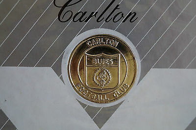 "CARLTON BLUES - 1987 VFL OFFICIAL"" Gold Colour"" TEAM MEDAL"